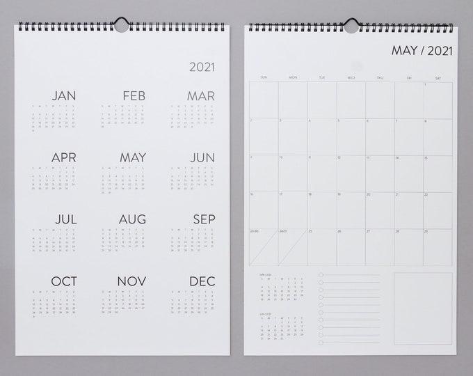 12 Month Wall Calendar 2021