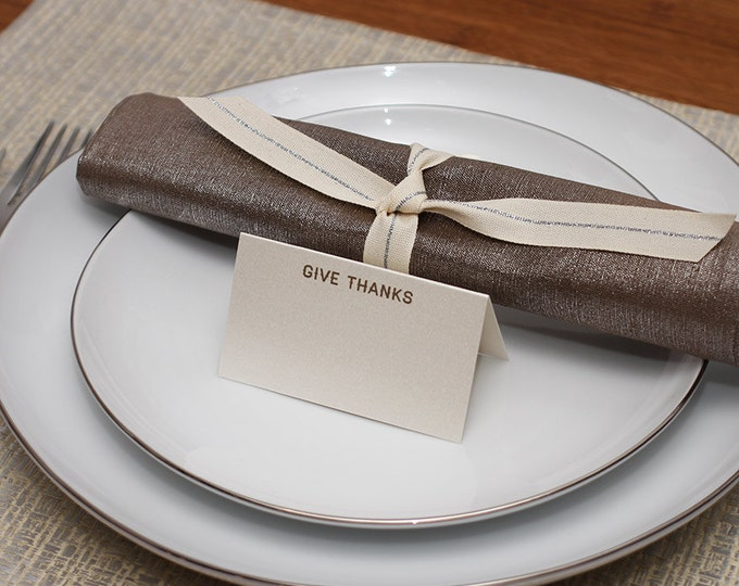 give thanks place cards - shimmer