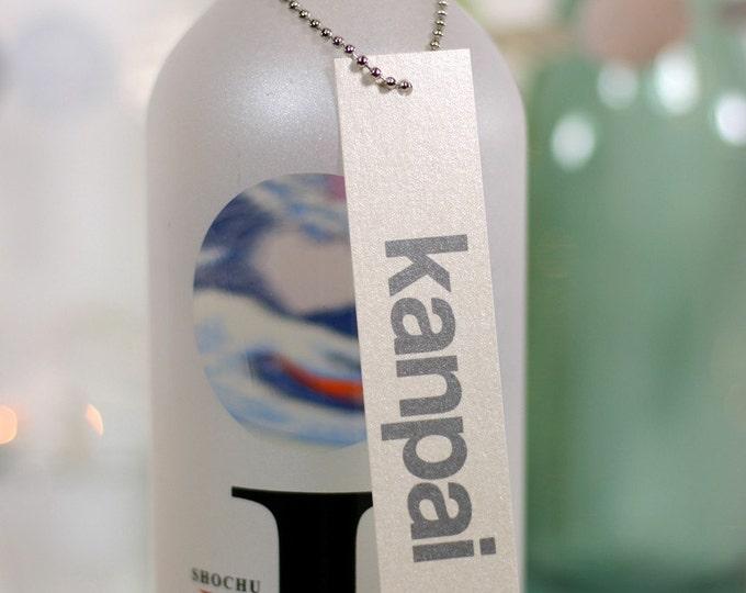 kanpai. wine tags