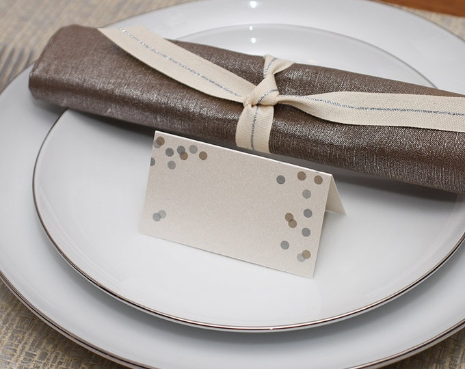 confetti place cards - shimmer