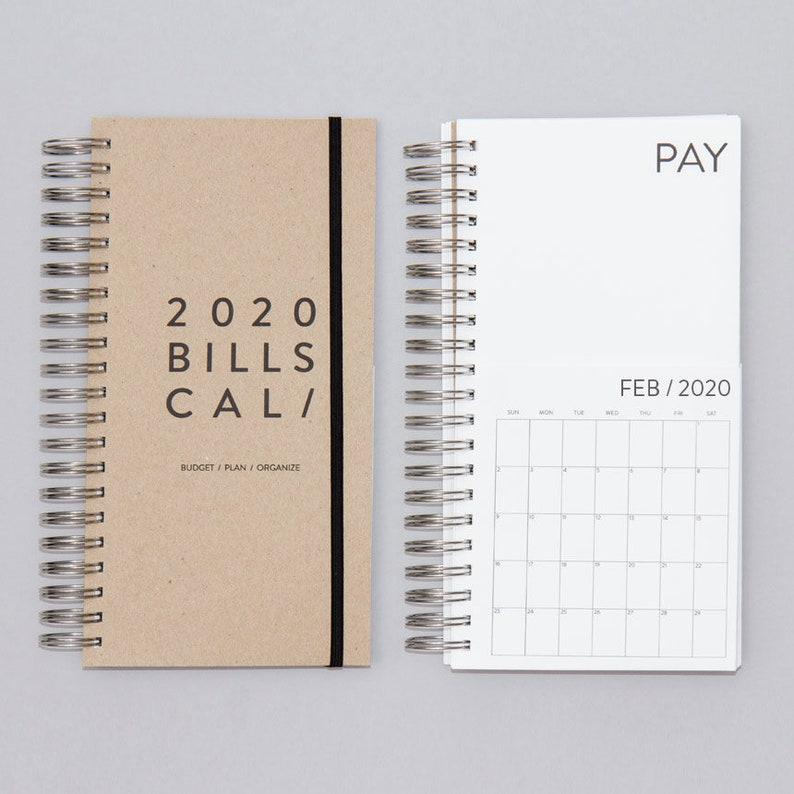 Dated Bills Calendar 2020 image 0