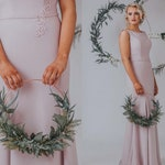 Greenery Wreath, Modern Wreath, Door Wreath, nursery decor, wedding bouquet, wedding circlet, green hoop, bridesmaid hoop, botanical wedding
