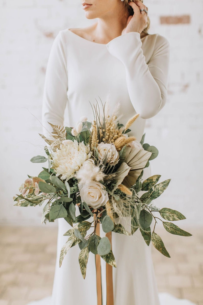 Pampas Grass Bouquet Eucalyptus Bouquet Extra Large Wedding Etsy