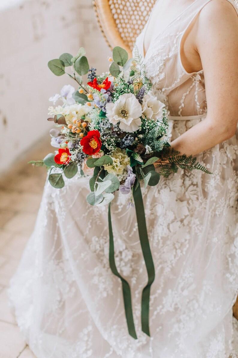 freeform wild flowers Colourful Wedding Bouquet Vibrant Bridal Bouquet Large Bouquet wildflower bouquet