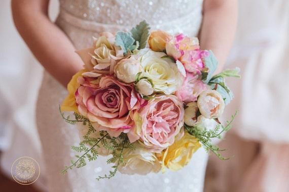 Pastell Strauss Rustikale Hochzeit Hochzeitsblumen Brosche Etsy