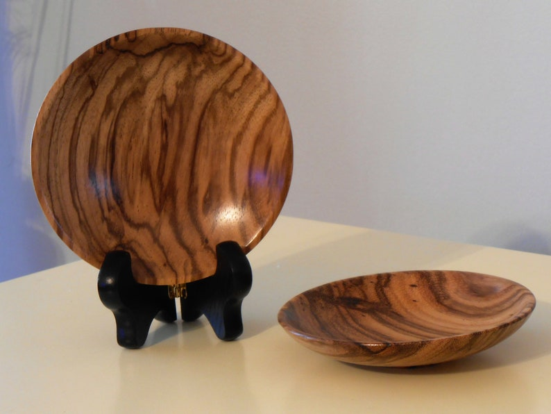 Hand Turned Zebrawood Mini Bowls