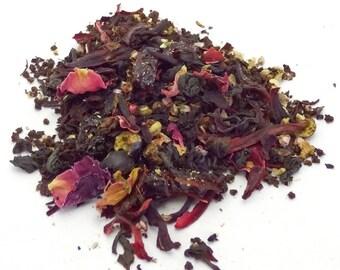 The Morrigan Tea - loose leaf black tea, cherry currant tea, Celtic pagan, devotional tea, Goddess of War, Irish deity, Raven Queen