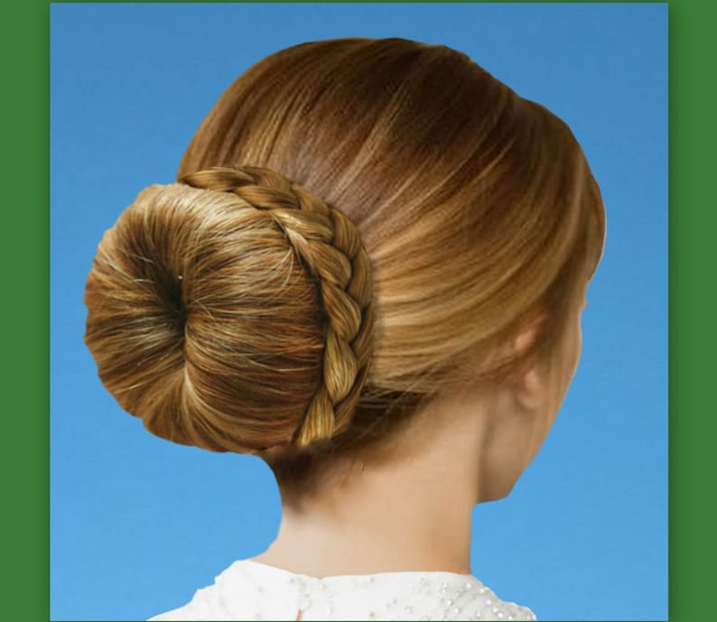 Braided Ballet Bun Wrap Accent Braid Addition Hairstyle For Etsy
