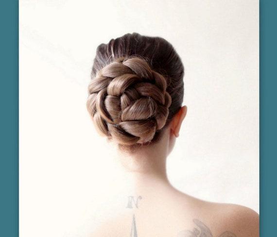 Bridal Hair Wedding Hairpiece Ballet Bun Cover Hair Style Etsy