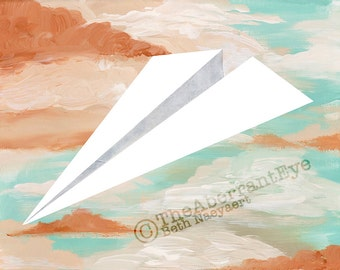 Paper Airplane Giclee Art Print
