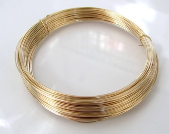 14k Gold Filled Round Half Hard Wire - 16, 18, 20, 22, 24, 26, 28 gauge, Made in USA