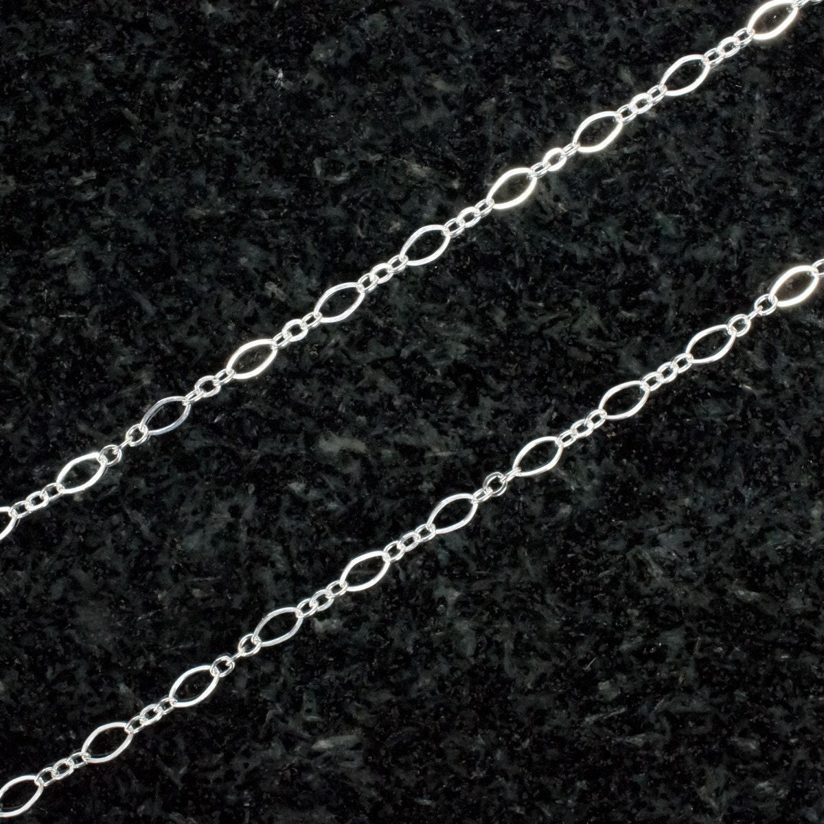 10 pieds chaîne - en argent Sterling Long et ovale à chaîne pieds courte 8e53f2