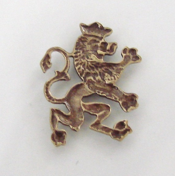 Brass Scottish Lion Stampings 14x18mm 4 Antique Gold