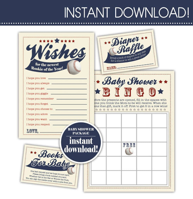 Printed On Cardstock Rookie Of The Year Vintage Inspired Baseball Birthday Invitation SET OF 10