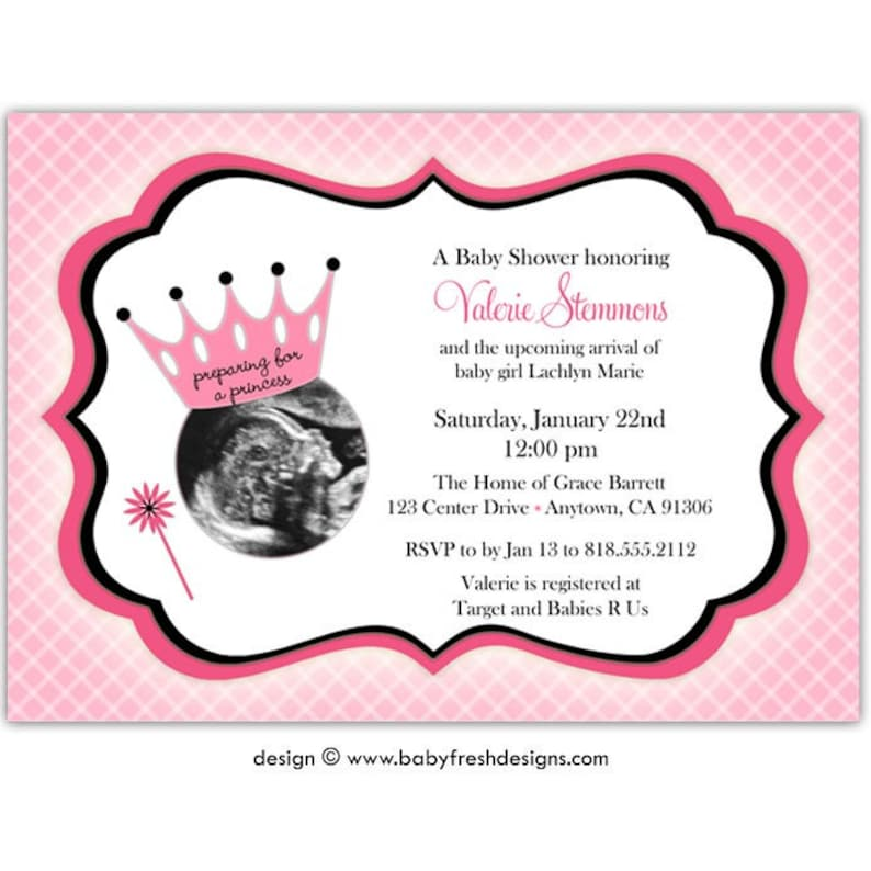 Sonogram Baby Shower Invitation Ultrasound Baby Shower Etsy