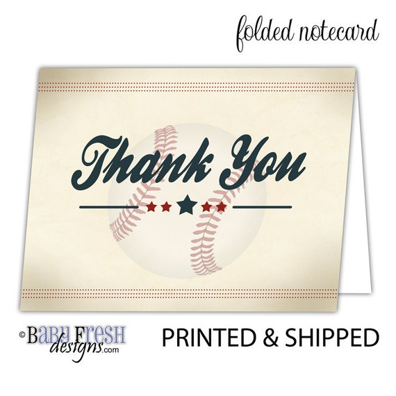 Baby Shower Gift For A Boy Baseball Thank You Cards Rookie Etsy