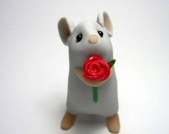 Tall Rose Mouse (Grey)
