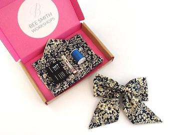 Floral Bow Hair Clip Kit