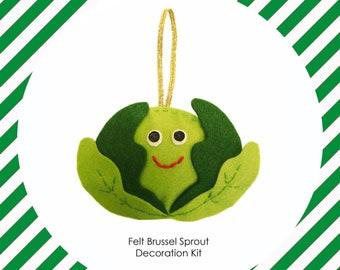 Felt Brussels Sprout Decoration Making Kit