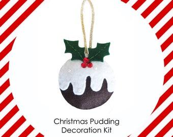 Felt Christmas pudding Making Kit