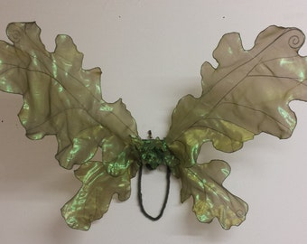 Adult Woodland Green Oak Leaf Fairy Wings