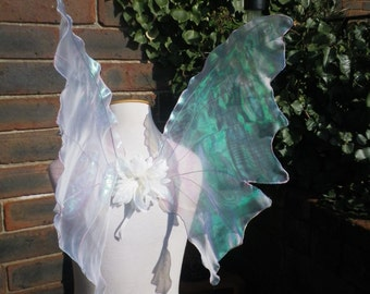 Realistic  Fairy Wings White Shimmery Silvery Iridescent Butterfly