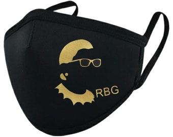 Golden RBG silhouette Face Mask