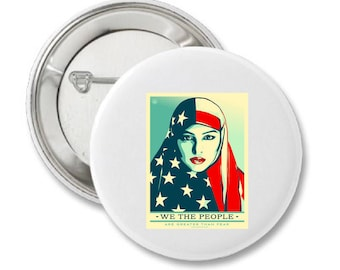 We The People Muslim Woman Button