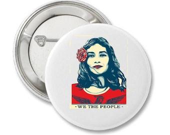 We The People Latina Woman Button Save DACA