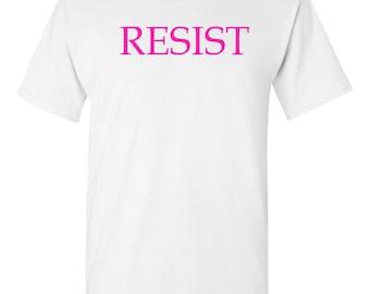 Resist Protest Woman's March   No Trump  T-shirt  White Sm-3XL