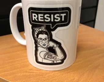 RBG as Rosie The Riveter!  11 oz  Coffee Mug