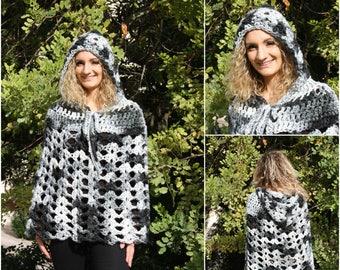 Crochet poncho,handmade,bohemian fashion,boho