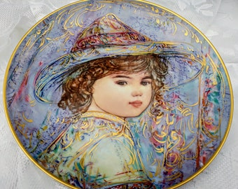 Hibel Studio Edna Hibels PorcelainArt Kaylin 2nd in the Series The World I Love Plate 383  Bavaria Germany World Famous Series Discontinued
