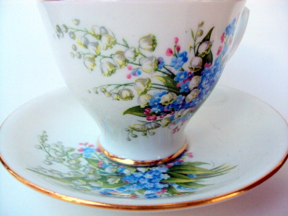 Vintage Bone China Cup And Saucer Clarence England Etsy
