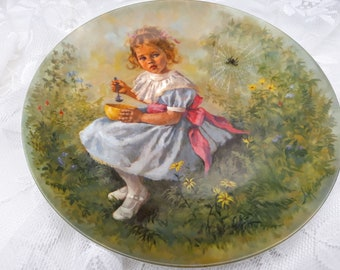 Reco Little Miss Muffet John McClelland Mother Goose Series Express single Edition Closed Permanently 1981 Limited Edition Plate # 1272G
