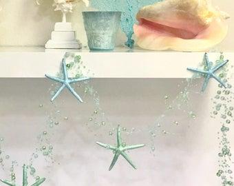 Beach Decor - Starfish Garland - Star fish Beach Wedding Decor Coastal Nautical