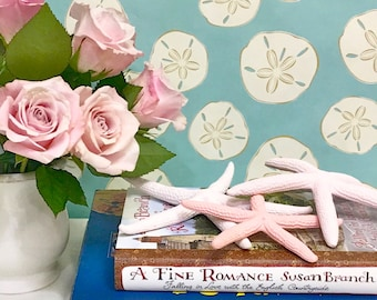 Beach Decor - S/3 Painted Natural Starfish - Choose Pink, Light Pink, Blush or one of each - wedding beach party star fish