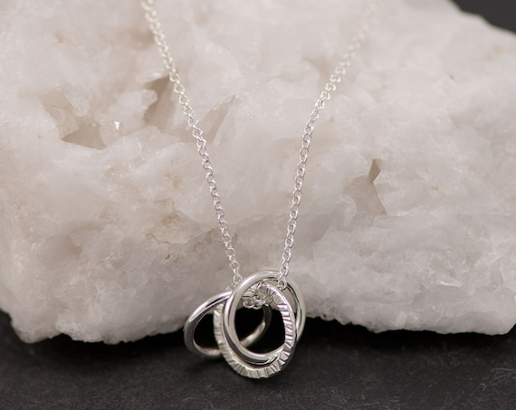 Unity Link Necklace- Silver Circle Infinity Necklace- Eternity Necklace- Unity Circle Silver Necklace