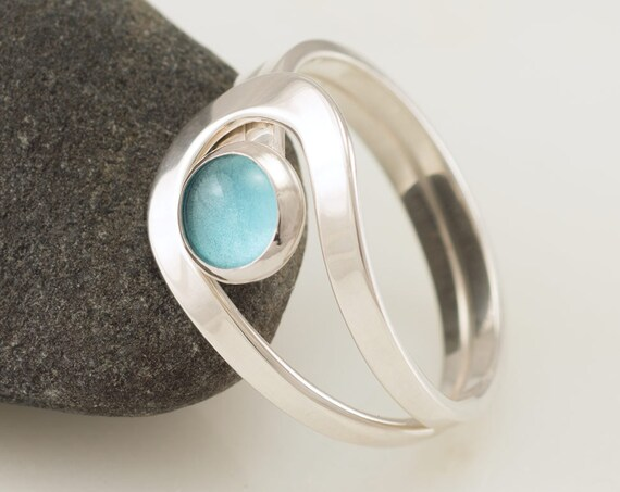 Blue Topaz Ring, Sterling Silver Blue Topaz Ring, Blue Topaz jewelry, Gemstone Ring- Sterling Silver Stone Ring- December birthstone
