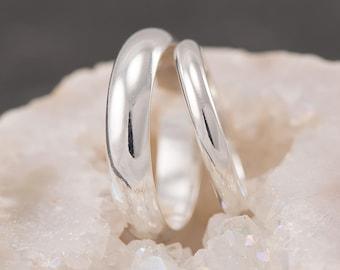 Wedding Band Set, Wedding Rings, Silver Wedding Rings, Sterling Silver Wedding Bands, Wedding Ring Set, Silver Ring Band