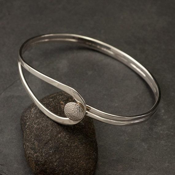 Modern Sterling Silver Bracelet- Sterling Silver Latch Bracelet- Silver Cuff Bracelet- Handmade Bracelets Silver