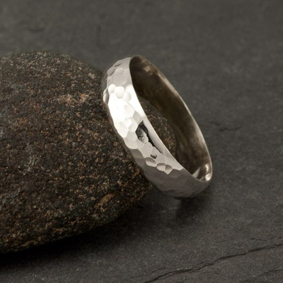 Hammered Sterling Silver Ring- Simple Silver Ring- Modern hammered ring band- wedding band- Silver Jewelry: sizes 5-11