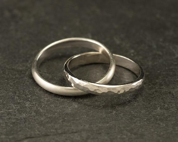 Wedding Ring - Wedding Band- Engagement Ring- Sterling Silver Unity Ring, Interlocking Wedding Rings, Rolling Ring, Russian Wedding Ring