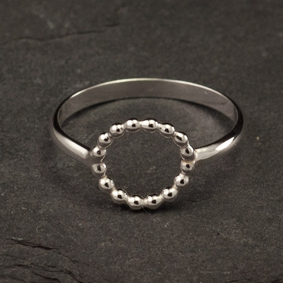 Simple Silver Ring- Sterling Silver Ring- Modern Circle Ring- Handmade Sterling Silver Ring- 6, 7, 8