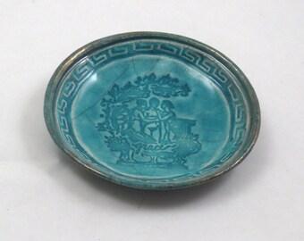 RAKU GODDESS Three Graces Offering Bowl  Handmade Ceramic Pottery
