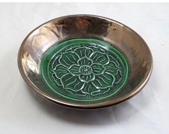 Lotus Offering Bowl Handmade Ceramic Pottery