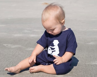 Sandcastle Romper by Nostalgic Graphic Tees