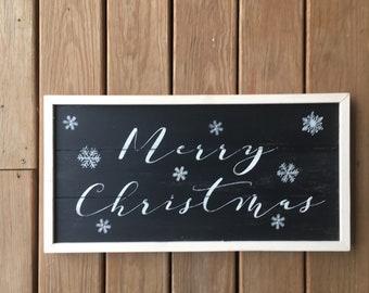 Merry christmas sign, christmas sign, shiplap sign, christmas wall decor, merry christmas, farmhouse christmas sign, framed wood sign