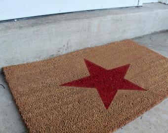 Patriotic Star Doormat