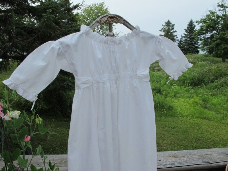 15a54fccf Antique Baby Dress Christening Gown Long Entirely Hand Sewn